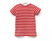 Toddler shirt red white stripe tee beach seaside boys girls short sleeve nautical sailor pirate toddler t shirt summer childrens clothes