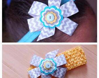 Chevron Bow Headband-you choose your favorite headband