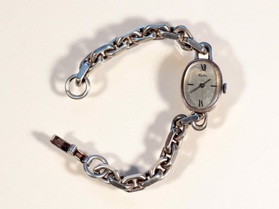 70s sterling womens watch stamped 800 swiss jewelry by