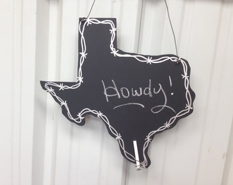 Texas decor chalkboard
