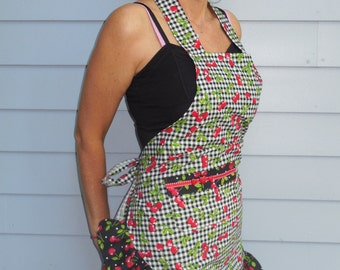Cheerful Cherries Pinup style apron