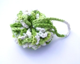 Crochet Spa Scrubby Kitchen Dish Cloth Shower Scrubbie Cotton Facial Bath Poof Wash Cloth Washcloth Lime Green