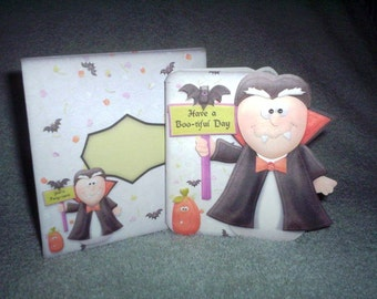 Halloween Dracula card