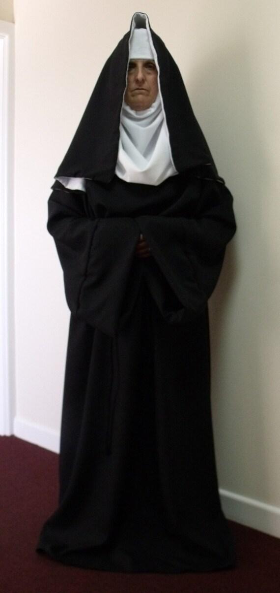 Custom Made Nun Costume Fancy Dress Garment Robe Amp Headset