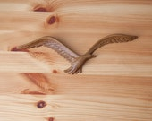 Vintage Bird Seagull Faux Wood Plastic Mid Century Modern Wall Hanging