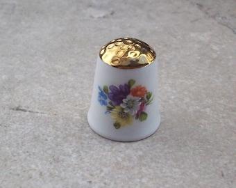 Kronach Thimble W. Germany  Kronach Garden Bouquet Thimble