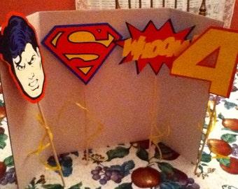 Cute Superhero Party Centerpiece