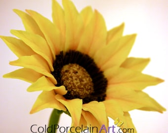 Sunflower Centerpiece - ColdPorcelainArt - Made to order