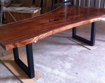 Live Edge Dining Table Reclaimed Solid Slab Acacia Wood Extremely Rare