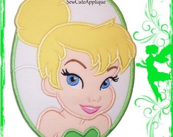 Tinker Bell Cameo No Sew Applique Patch