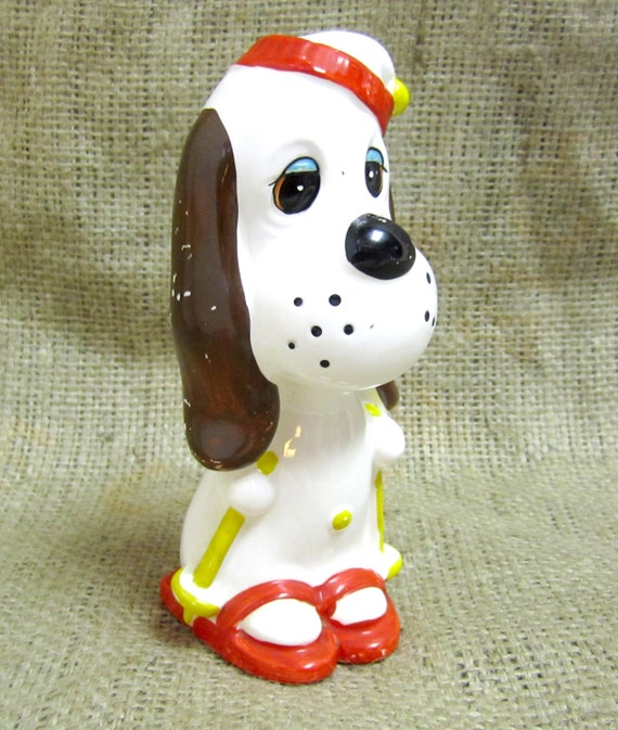 Vintage Ceramic Droopy Dog Piggy Coin Bank Mgm Character