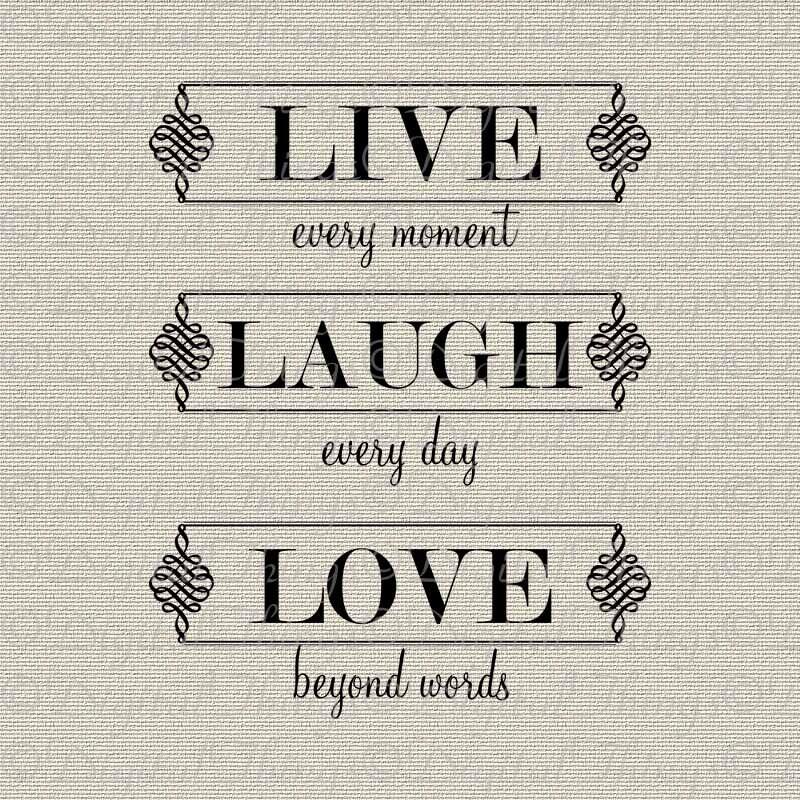 Inspirational Art Live Laugh Love Wall Decor Art Typography
