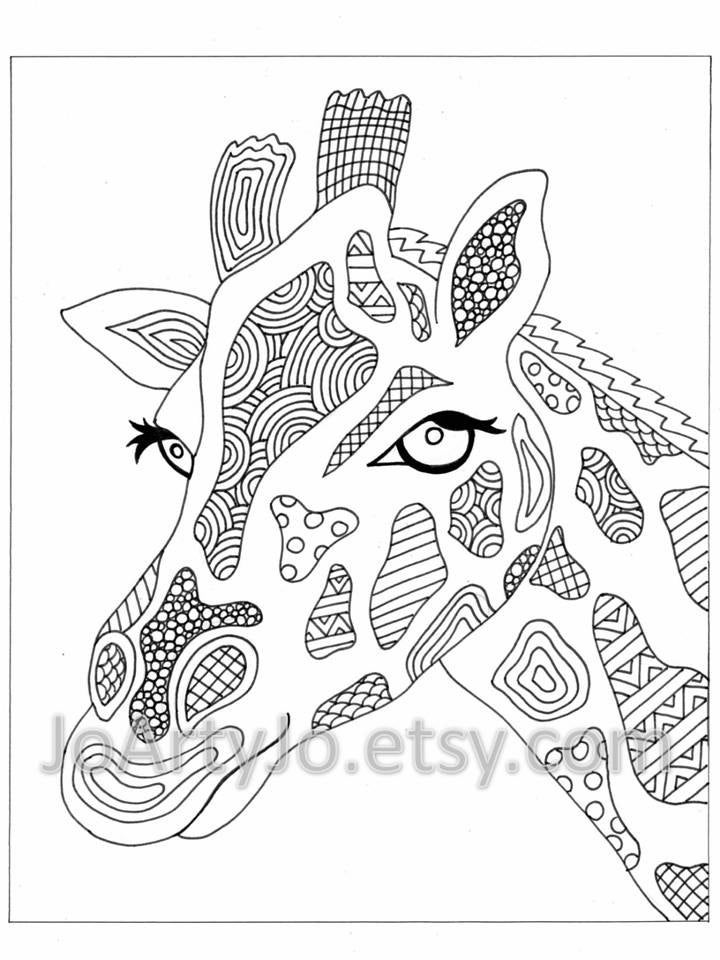 Free zentangle elephant coloring pages ~ Coloring Page Elephant Zentangle Inspired Printable by ...