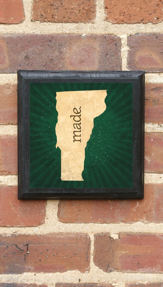 Vermont Vt Made Wall Art Sign Plaque Gift Present Home Decor