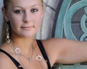 Dangle Earrings - Silver Long Dangle Earrings - Drop Earrings