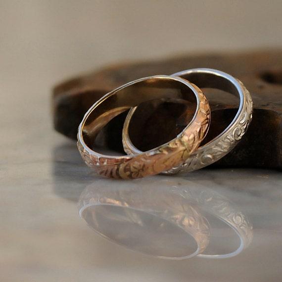 Stacking Rings - Gold Silver Stacking Ring Set