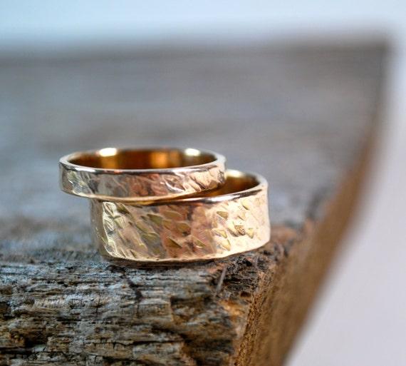 Wedding Ring Set Couples Rings Rose Gold Yellow