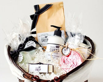 Large Basket of Soap and Bath Bombs.