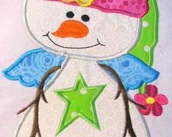 Winter Snowman Machine Embroidery Applique Design - Snowman Applique Design - Christmas Applique - Christmas Design - Christmas Embroidery
