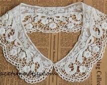 Lace Collar, Gauze Lace Trim Collar, Crochet Lace Trim, Vintage Lace Collar