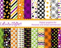 20 Digital Papers Halloween Holiday Themed Patterns for Personal Use and Small Commercial Use H064