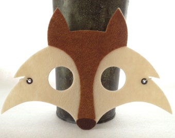 Felt Fox Mask - Halloween Mask -  Kids Fox Mask - Adult Fox Mask