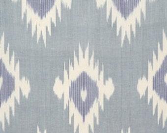 SALE! Blue Fire - Ikat Fabric - F-A455