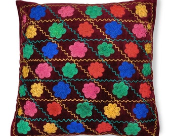 "Bukhara Bouquet, 19"" Patduzi Pillow Cover- 4067"