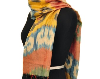 Fashion Spice Ikat Silk Scarf - 6015
