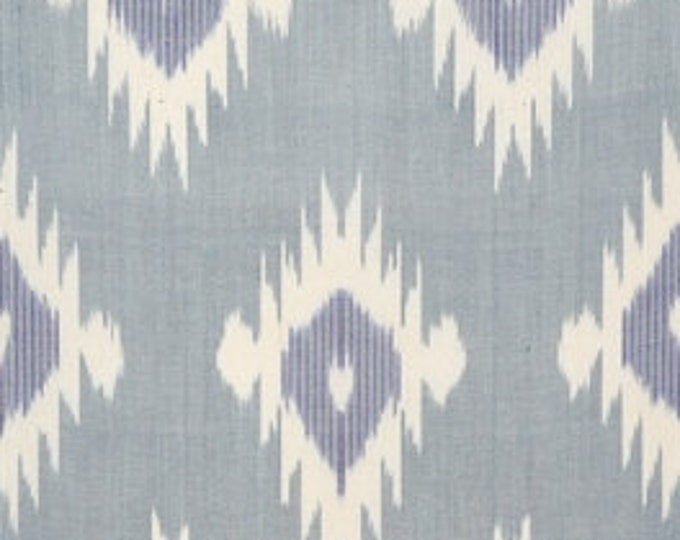Sale! Ikat Fabric, Ikat Fabric by the yard, Blue Ikat Fabric, Table Runner, Ikat, Woven Cotton Fabric, F-A455