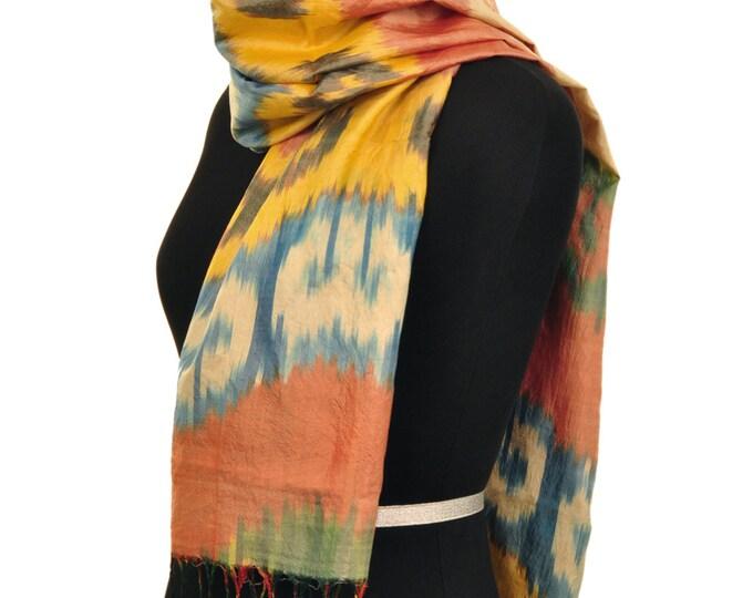 Fashion Spice Ikat Silk Scarf - 6015