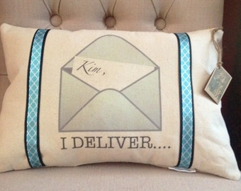 Personalized Postal Carrier Pillow