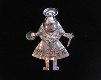 Hand crafted Peruvian brooch