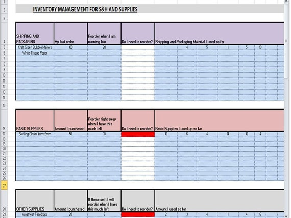 account spreadsheet template