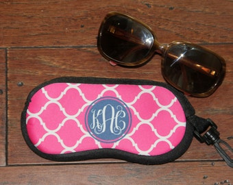 Monogrammed Sunglass Case - Eyeglass Case - Personalized Sunglass Case - Perfect Gift