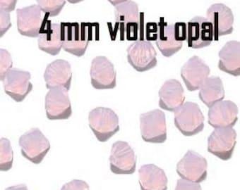 60 Pc Swarovski Crystal Bicone Violet Opal 4mm 4 mm Swarovski Bicone beads