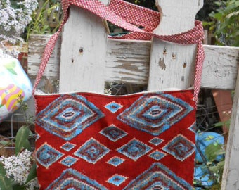 Handmade purse, Tribal, Woven Look, Blanket Look,  over the shoulder/chest