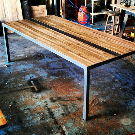 Butcher Block Dining Room Table: Items Similar To Modern Dining/Conference Table Butcher