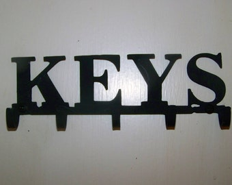 Keys Holder  Hooks Organizer Hook Metal Key holder Choice 5 7 or 9 hooks