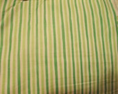 Green stripes print