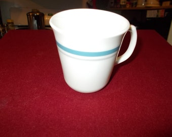 4 Corning Indigo Mugs Corelle Indigo Blue Cup Blue Rim Dinnerware Corning Ware Kitchen Glassware Corning Glass Mug