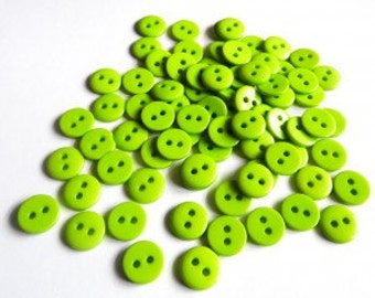 Plastic button APPLE GREEN 9mm - 2 hole