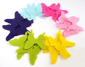 Felt butterflies, set of 24 pieces