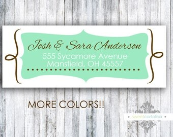 Return Address Labels - Stickers - Ornate - Choose Your Color