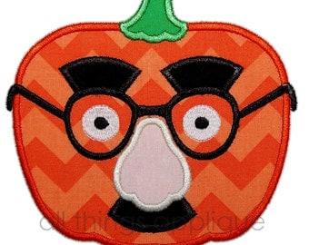 Mask Pumpkin Applique Design - 3 Sizes - Halloween Applique Design - INSTANT DOWNLOAD