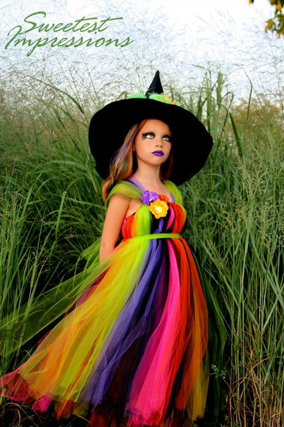 Halloween Witch Costume - Tutu Dress - Costume - Fancy Witches Hat - Sizes 3T, 4T 5T - HALLOWEEN COSTUME - Pageant costume - Witch Tutu