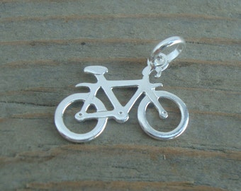 Silver Bike Charm / 925 Sterling Silver / Bicycle Charm / Sterling Silver Bike Charm