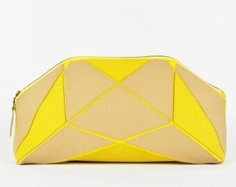 Foldable XXL clutch sand / yellow