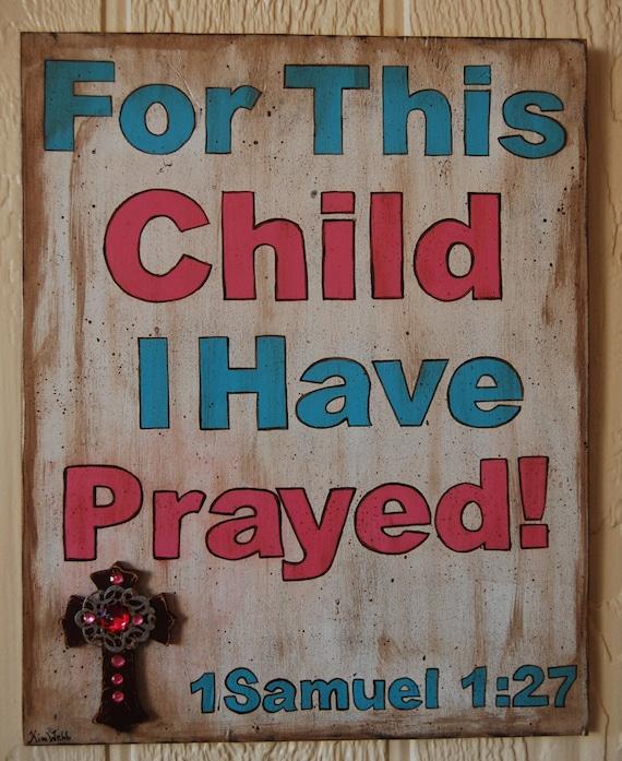 Religious Wall Decor For Nursery : Nursery wall art christian baby girl boy