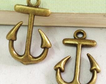 Anchor charms -20pcs Antique Bronze Anchor Charm Pendant 15x23mm E302-2